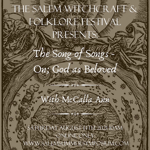 The Song of Songs - On; God as Beloved