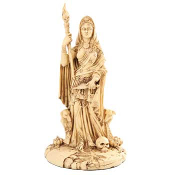 Hekate Statue in Bone Color