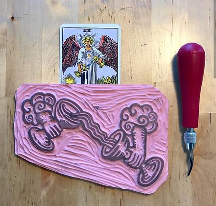 Temperance Tarot Card Enamel Pin
