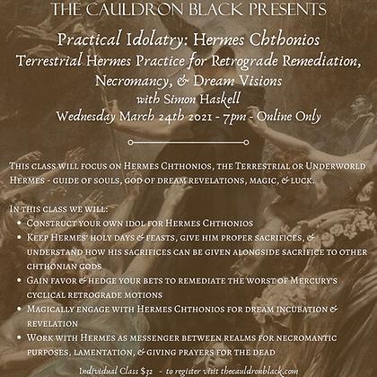Practical Idolatry: Hermes Chthonios - Terrestrial Hermes Practice