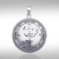 Archangel Michael Sigil Pendant in Sterling Silver