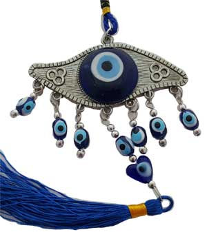 Metal Evil Eye with Murano Glass Detail