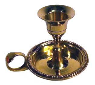 Antique-Style Brass Taper Candle Holder