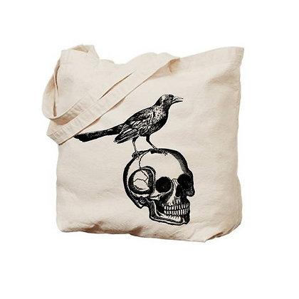 Skull & Raven Cloth Tote Bag