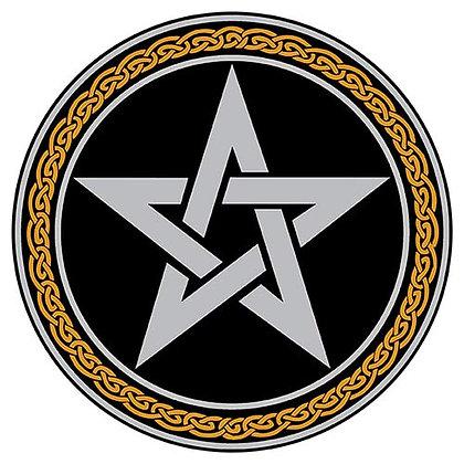 Pentacle Altar Peton on Black Acrylic