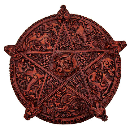 Large Celtic Knotwork Pentacle Wall Plaque