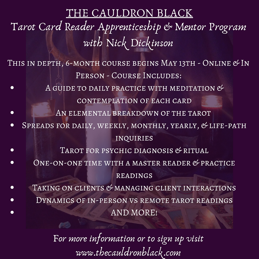 Week 9 - Mastering the Tarot - Tarot Card Reader Apprenticeship & Mentor Program with Nick Dickinson
