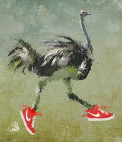 JUST DO IT. (The running Ostrich)