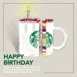 Starbucks Birthday E-card