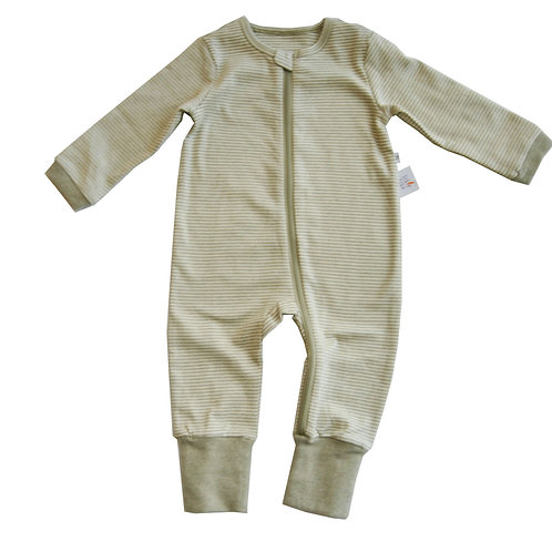 Lil Fern Organic Zipup Sleepsuit