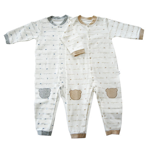 Little Crown Organic Sleepsuits -  Value pack of 2