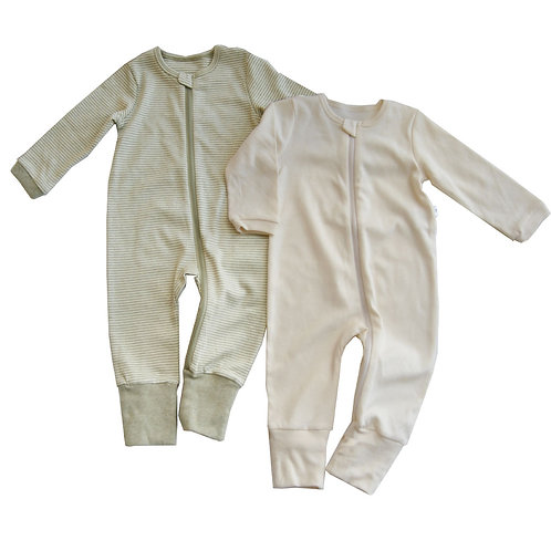 Lil Stardust Organic Zipup Sleepsuits Value Pack-2