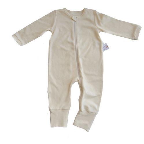 Lil Vanilla Organic Zipup Sleepsuit