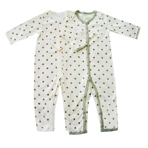 Value pack of 2 Lil Dottie Organic Sleepsuits