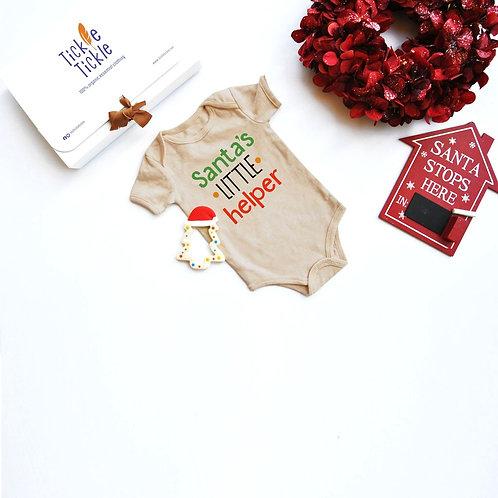Lil Tickle Santa's Helper Organic Bodysuit and Teether Set