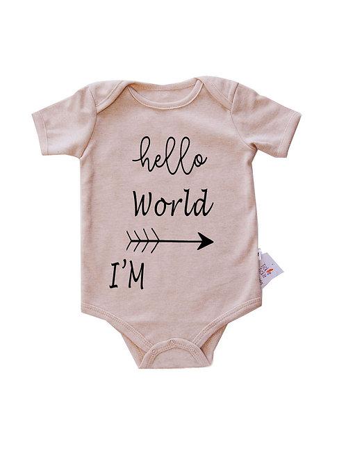 Little Tickle's- Hello World – Personalized Organic Bodysuit