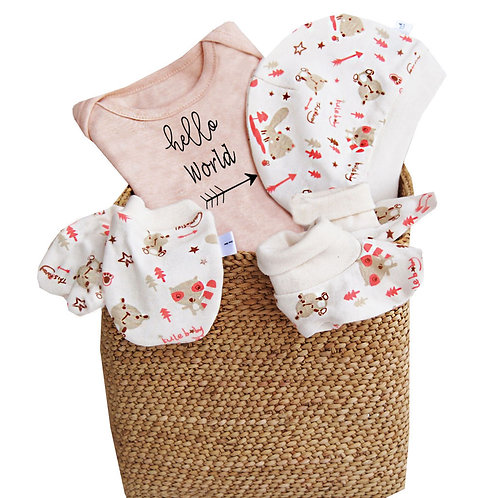 Nature's Tickle 'Hello World' Personalized Gift Hamper