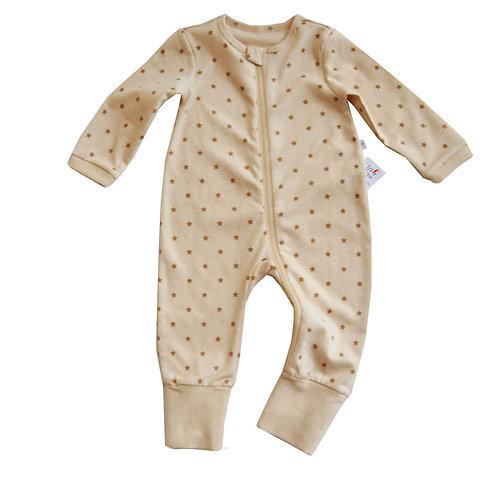 Lil StarDust Organic Zipup sleepsuit