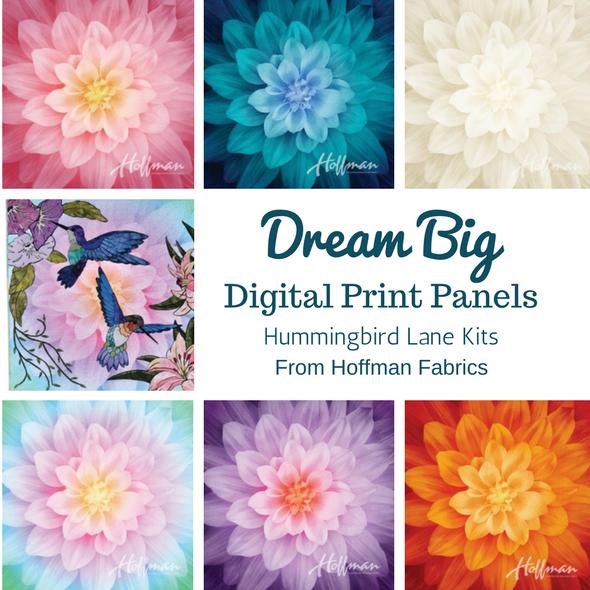 Dream Big digitally printed panels from Hoffman Fabrics