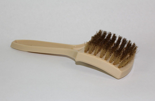Brass White Wall Brush