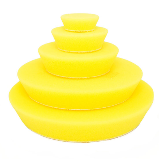 Yellow Fine Random Orbital Foam Pads 150mm/6″