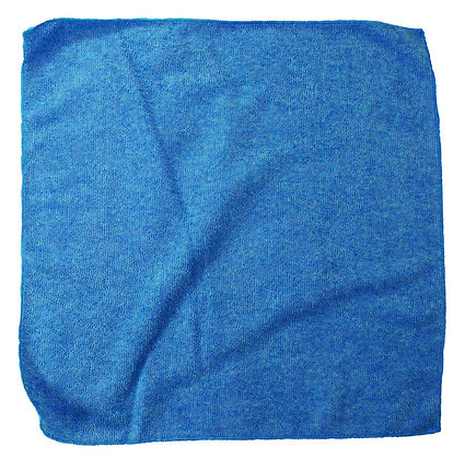 PLUSH MICROFIBER CLOTH 16X16 BLUE