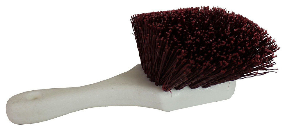 Short Handle Stiff Nylon Bristle Brush