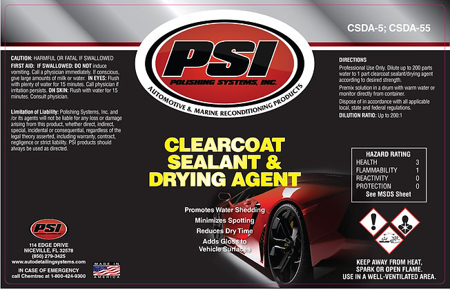 Clearcoat Sealant Drying Agent