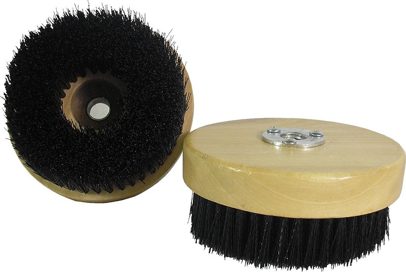 "5"" Diameter Direct Mount Wood Block Rotary Brush"