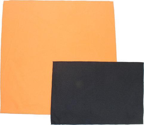 ORANGE SUEDE MICROFIBER CLOTH - 16 IN x 16 IN