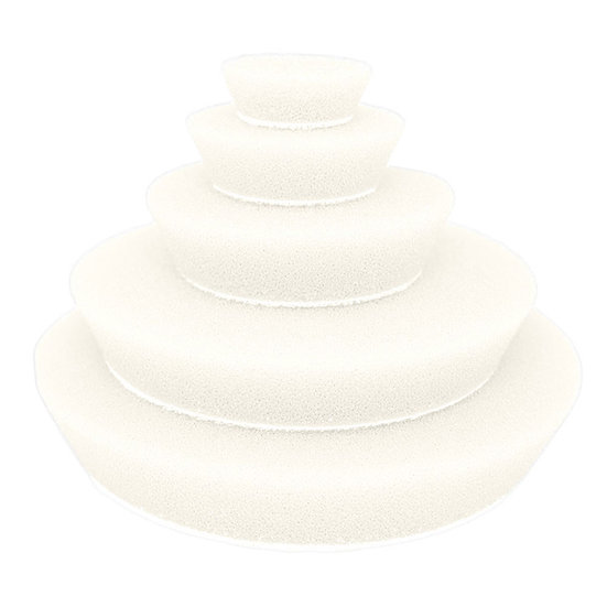 White Ultrafine Random Orbital Foam Pads 150mm/6″