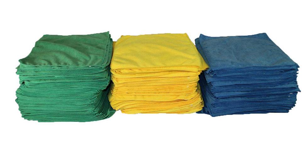 MICROFIBER CLOTH - GREEN - 100/BAG