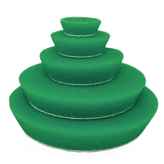 Green Medium Orbital Foam Pads 100mm/4″