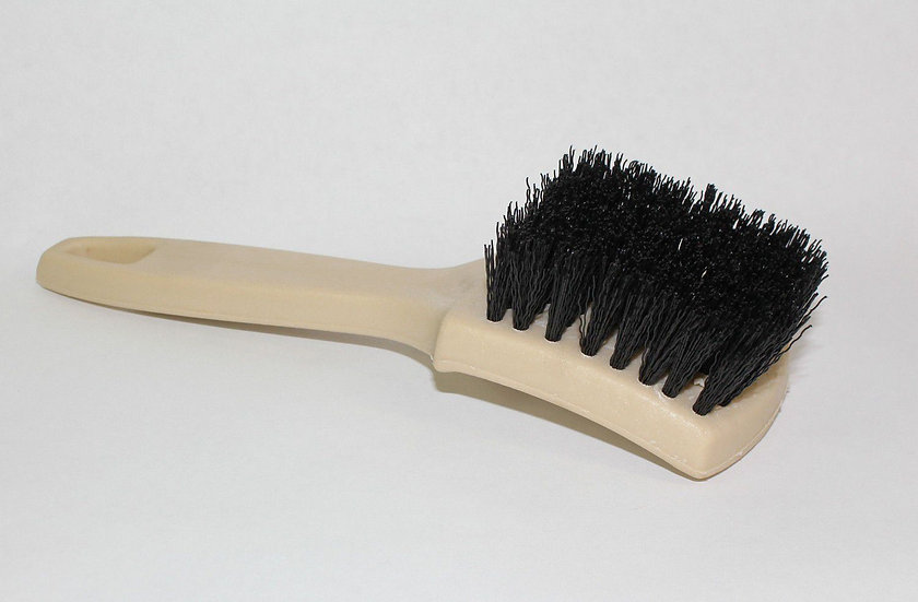 "Red Nylon White Wall Brush 3/4"" Bristle"