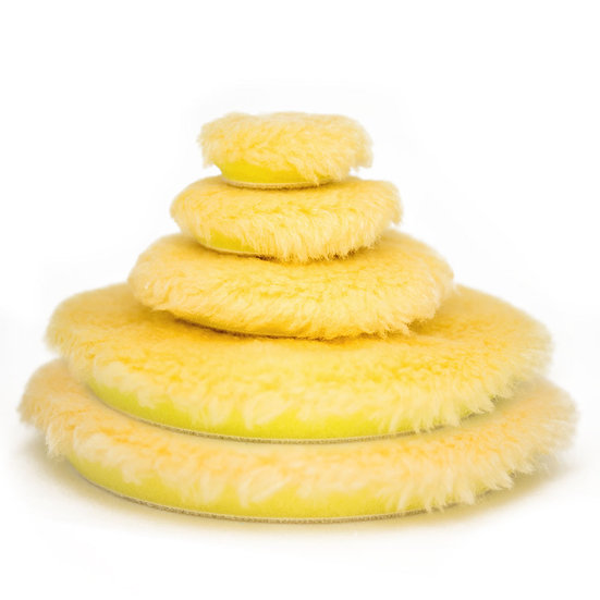 BigFoot Yellow Medium Wool Polishing Pad 145mm/5.75″