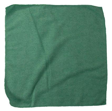 PLUSH MICROFIBER CLOTH 16X16 GREEN