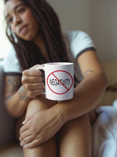 NO NEGATIVITY COFFEE MUG