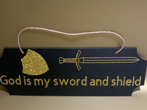 God is My Sword Wall Hanging
