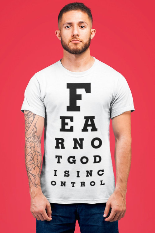 GOD IS IN CONTROL EYE CHART TEE