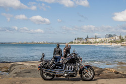 Motorcycle joy ride view.