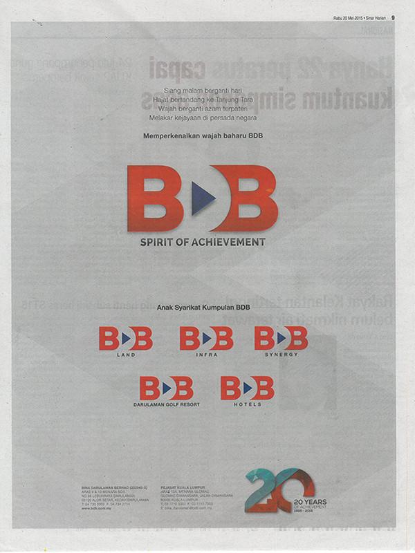 Iklan Penjenamaan Semula Kumpulan Bina Darulaman Berhad