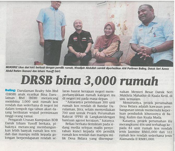 DRSB Bina 3,000 Rumah