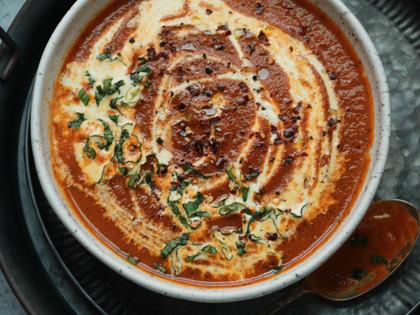 Roasted Tomato Garlic and Basil Soup