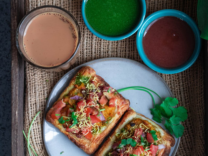 Puff Pastry Samosa Chaat – Indian Chaat