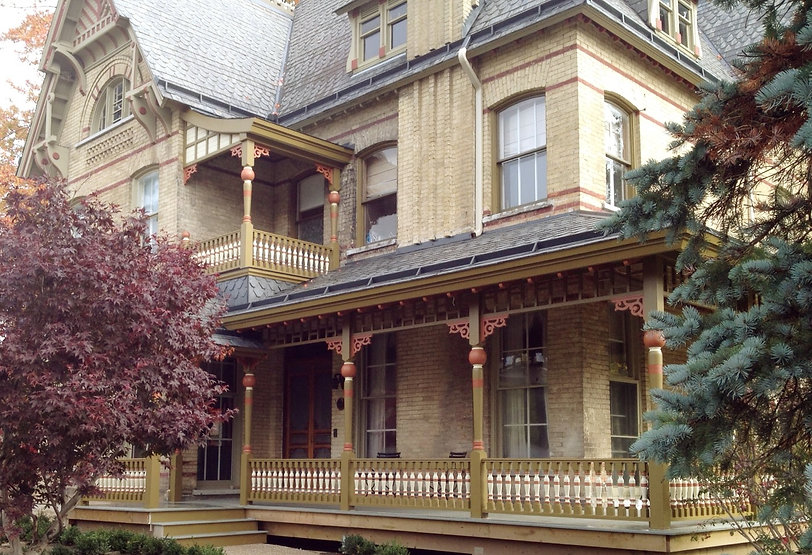 porch posts, victorian porch, turned posts, historic home restoration
