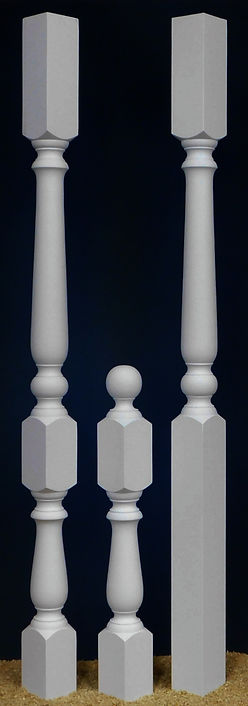 z Paisley Porch Posts with Newel Groupin
