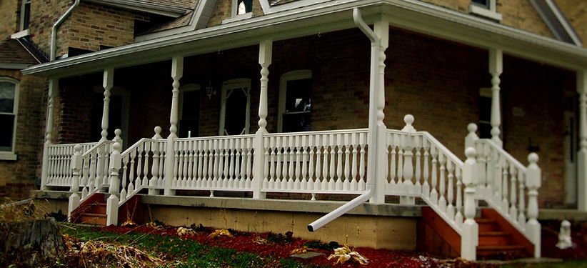Wood Porch Posts and Spindals