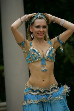 Louchia blue and gold Harem pose