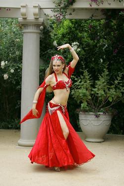Louchia red costume white diamonds spinn