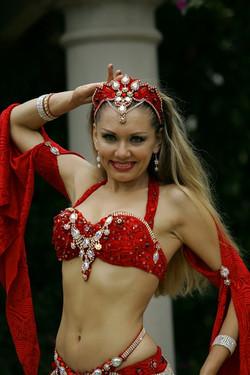 Louchia red costume white diamonds Betty
